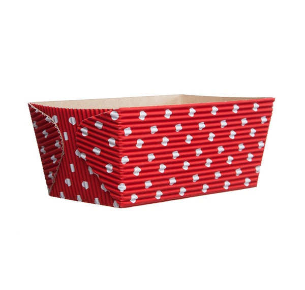 "4.5"" Loaf Pan Set, Red and White Polka Dot (Set of 50)"