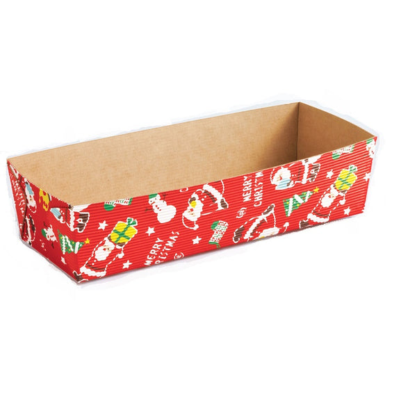 "7"" Rectangular Loaf Baking Pans, Santa Claus (25 pack)"