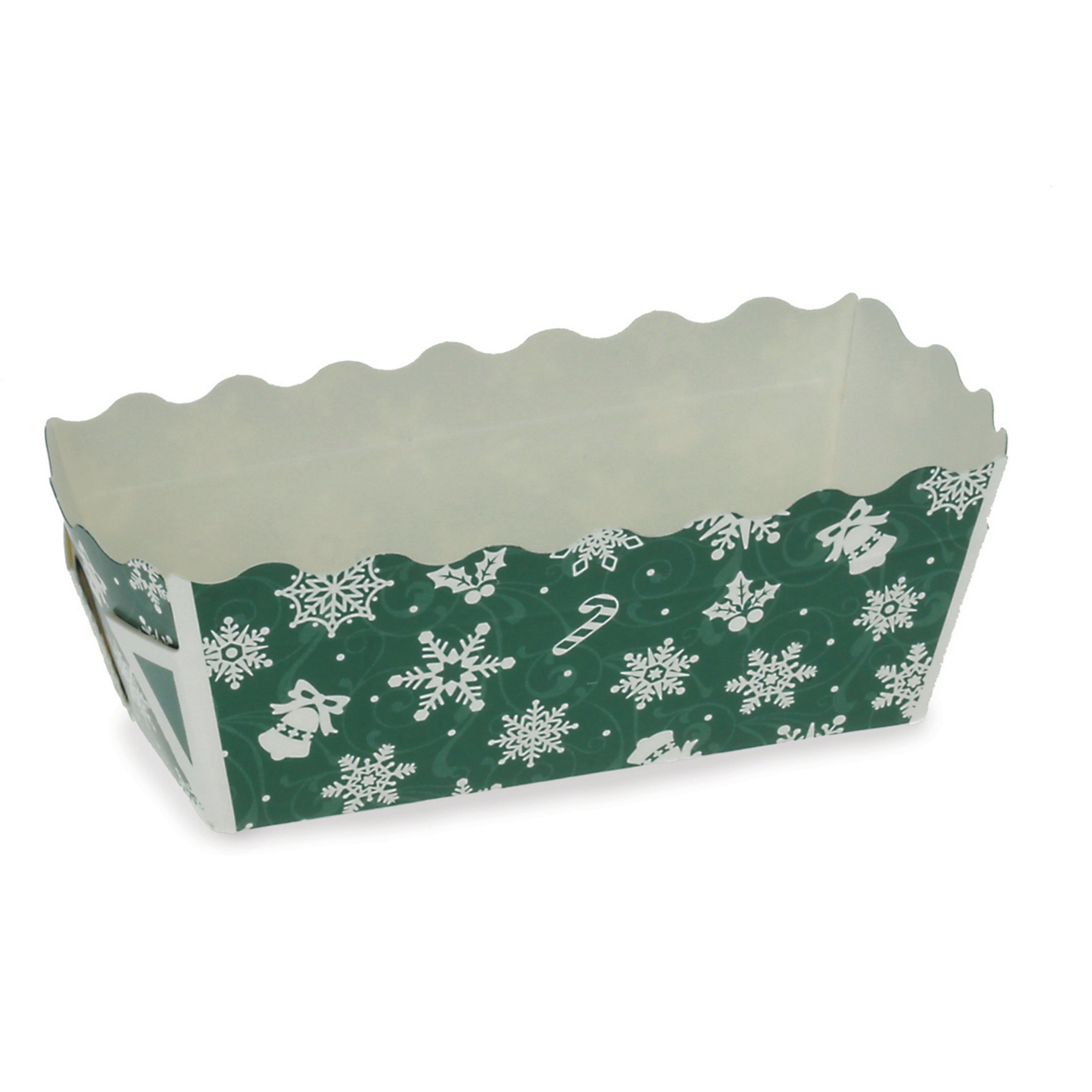 "Assortment Sets, 3.2"" Mini Loaf Set, Green Snowflake - Welcome Home Brands"