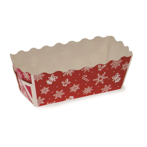 "3.2"" Mini Loaf Set, Red Snowflake"