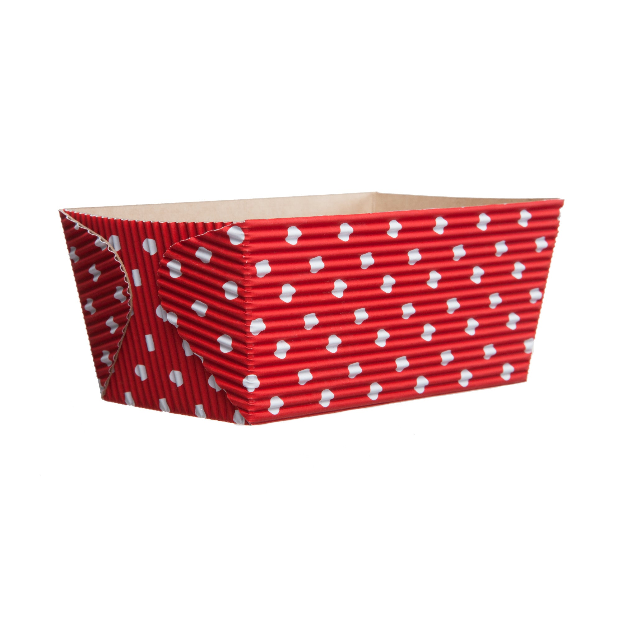 Red with White Dot Set of 30 Welcome Home Brands Ruffled Baking Cups