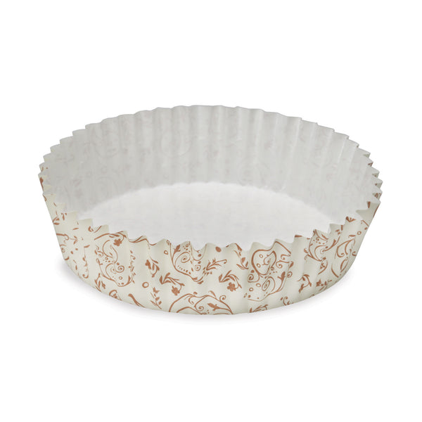 "4"" Ruffled Baking Cup, Brown Blossom"