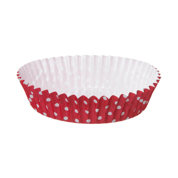 "4"" Ruffled Baking Cup, Red and White Dot"