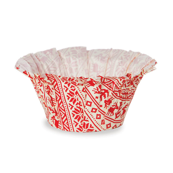 Muffin Basket Set, Red Knit (Set of 300)