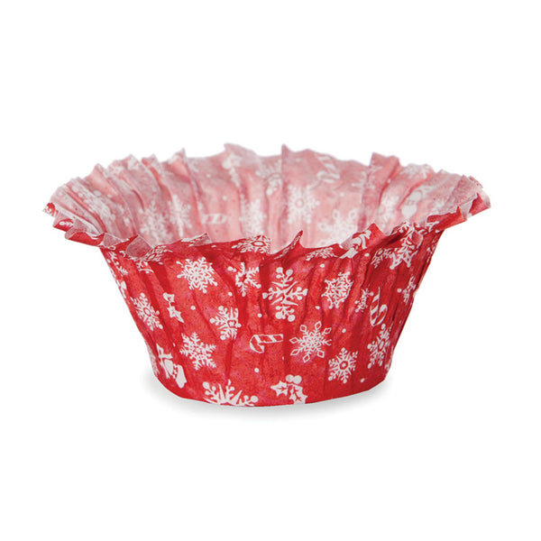 Muffin Basket Set, Red Snowflake (Set of 300)
