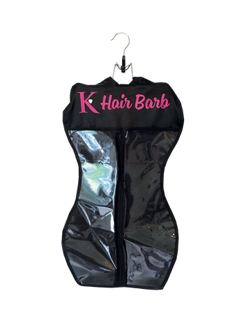 Hair Barb Hair Extensions Carrier Bag & Hanger