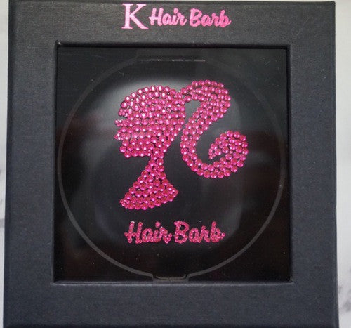 HairBarb Crystal Compact Mirror