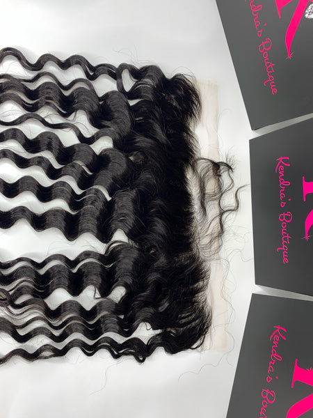 Loose curly Lace Frontal (HD Lace)