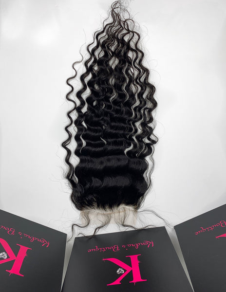 Loose Curly Lace Closure (HD Lace)