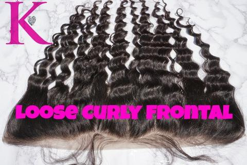 Loose Curly Frontal (Transparent Lace)