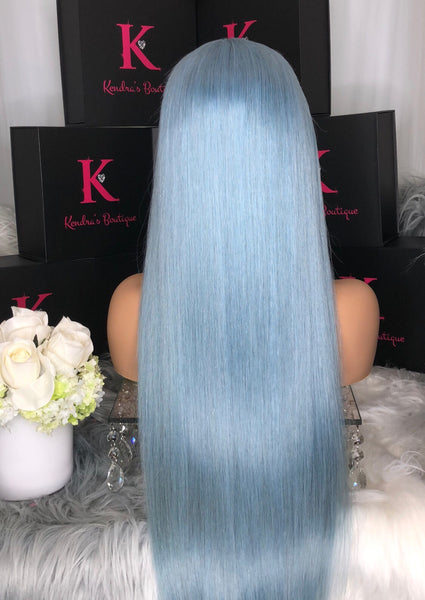 "Ready To Ship ""ICY BLUE"" Full Lace Wig"