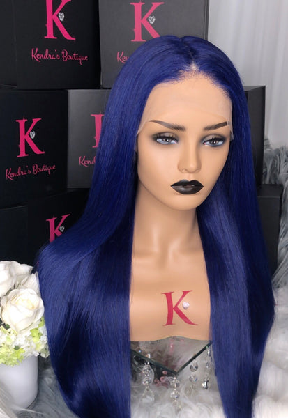 "Ready To Ship ""Navy Blue"" Full Lace Wig"