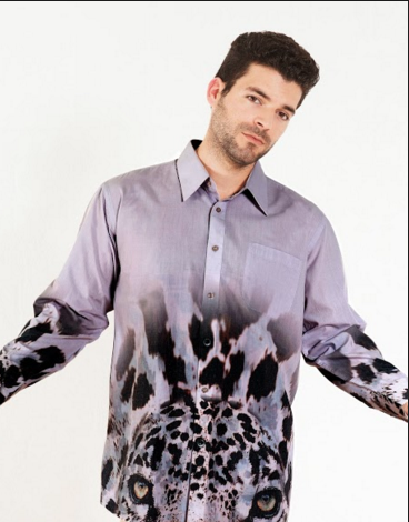 Aves y Animales en Extincion - Button-Up Shirt - Jaguar Andino