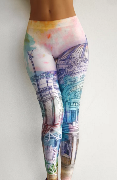 Viva Mexico - Leggings - Palacio De Bellas Artes