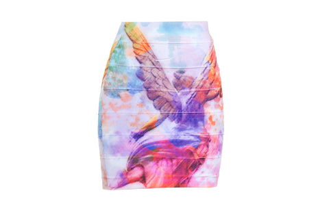 Viva Mexico - Body Con Skirt (Short) - Angel De La Independencia
