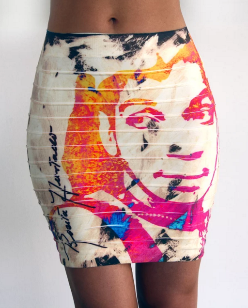Viva Mexico - Body Con Skirt (Short) - Cantinflas