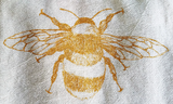 Tea Towel Honey Bee Pollinator Bug Nature Screen Print Organic Cotton, pollinator, honey, natural, nature, dish