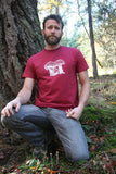Amanita Mashroom Cotton Red Men's T shirt