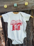 Onesie Amanita Mushroom Nature Screen Print Organic Cotton Creeper, mycology, baby shower