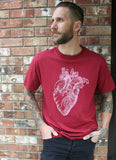 Best Anatomical Heart Mens Screen Printed Organic Cotton T Shirt