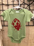 Lady Bug Onesie Organic Cotton Screen Printed One Piece, baby shower