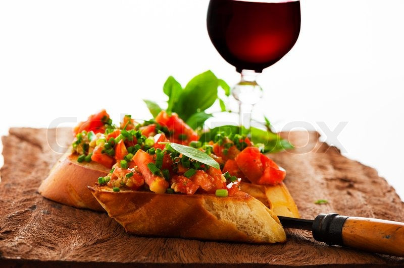 Bruschetta with Malbec Porfavor
