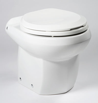 White Royal Flush Bravo Marine Toilet with Multitouch Control System