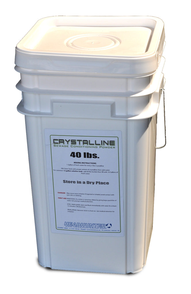 CRYSTALLINE. SEWAGE CONDITIONING TOILET TABLETS