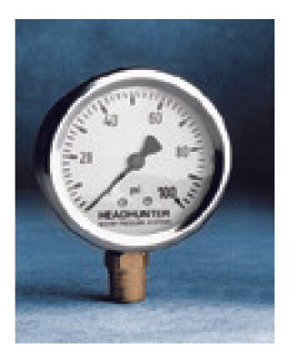STAINLESS STEEL PRESSURE GAUGE, OIL FILLED, HORIZONTAL
