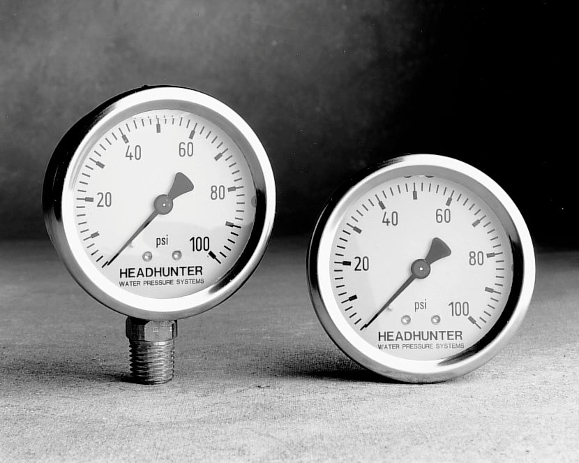STAINLESS STEEL PRESSURE GAUGE, OIL FILLED, VERTICAL