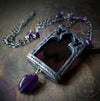 Beauvais Cathedral Arch ~ Amethyst Stained Glass Amulet