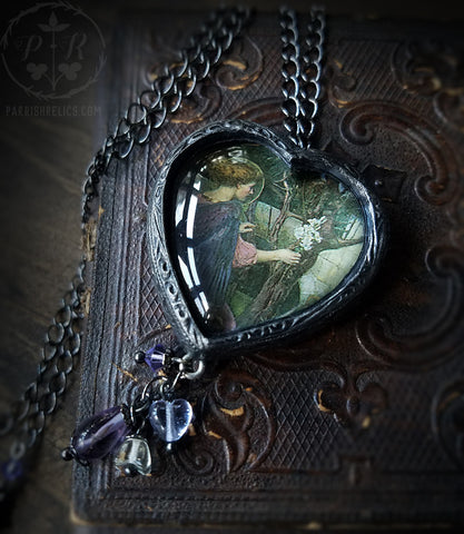 Waterhouse Angel Heart Pictorial Shrine Amulet