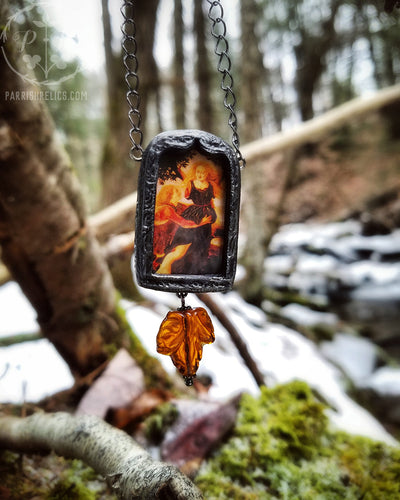 Apollo & Daphne ~ Pictorial Shrine Amulet