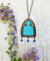 Belisama's Window ~ Gothic Arch Stained Glass Amulet