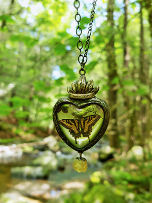 Sacred Nature Sacred Heart ~ Swallowtail Pictorial Shrine Amulet