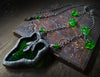 Ceres' Blessing ~ Vine Leaf Stained Glass Amulet