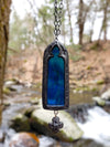 Tintagel Arch ~ Stained Glass Gothic Arch Amulet