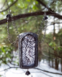 Fox & Rooster Fable ~ Pictorial Shrine Amulet