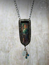 Separation of Light From Darkness ~ Edward Burne Jones Pictorial Shrine Amulet ~ Iridescent Stained Glass