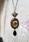Crowned Arthur Rackham Cat ~ Pictorial Shrine Amulet