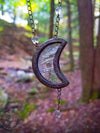 Crystal Luna ~ Crescent Moon Stained Glass Amulet