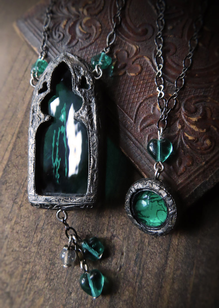 Twin Amulets ~ Brother Rabbit & Gothic Trefoil Arch