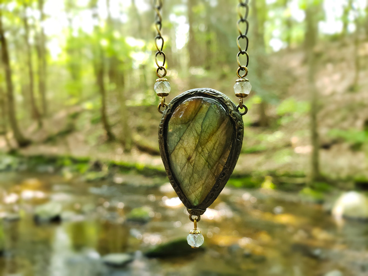 The Faire Serena ~ Labradorite Amulet
