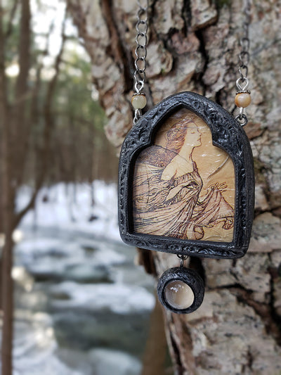 The Fairies Had Their Tiffs with the Birds ~ Pictorial Shrine Amulet