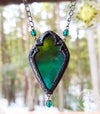 Forest Dawn Gothic Arch Stained Glass Amulet