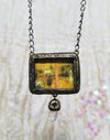 Garden of Earthly Delights ~ Quartz Point Bosch Pictorial Shrine Amulet