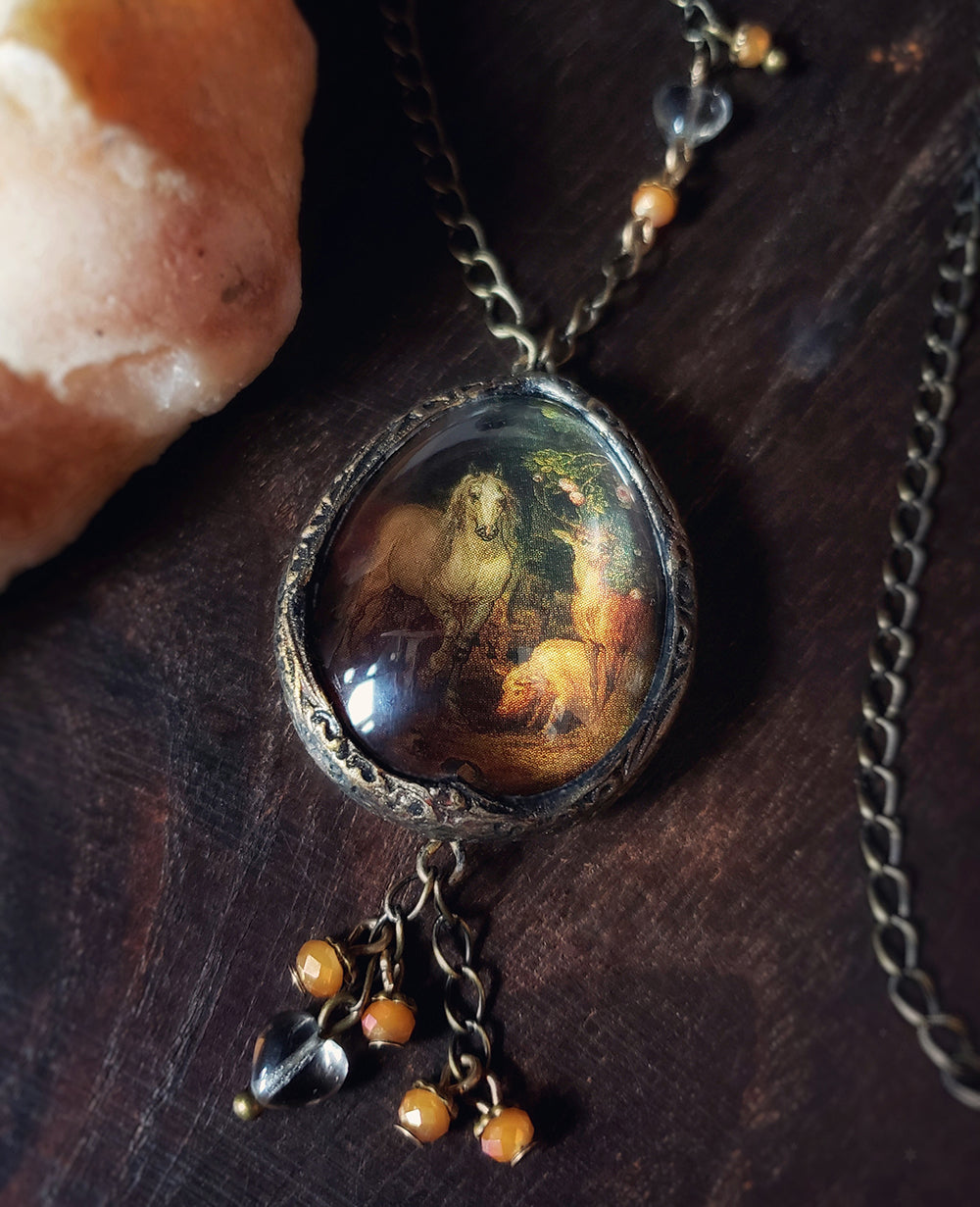 Garden of Eden Pictorial Shrine Amulet