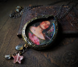 Gather Ye Rosebuds ~ Iridescent Pictorial Shrine Amulet