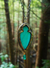 Hi'iaka's Arch ~ Opalescent Stained Glass Amulet