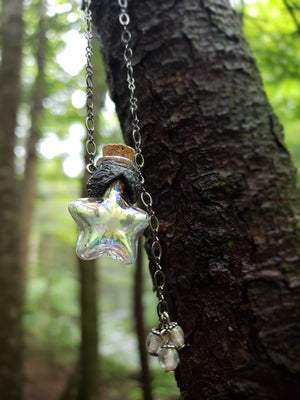 Iridescent Shooting Star Vessel Amulet